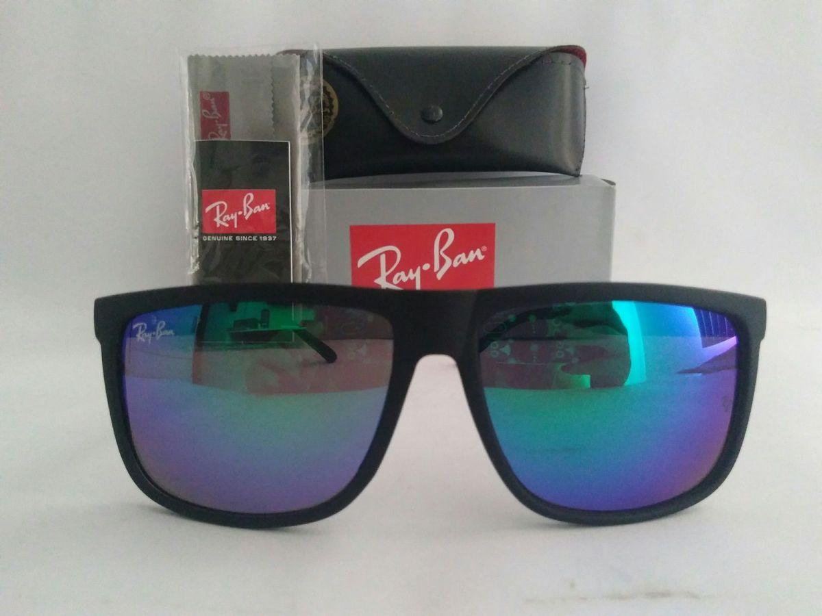 óculos de sol ray ban quadrado verde espelhado lançamento - óculos ray-ban 3bbcaa276d