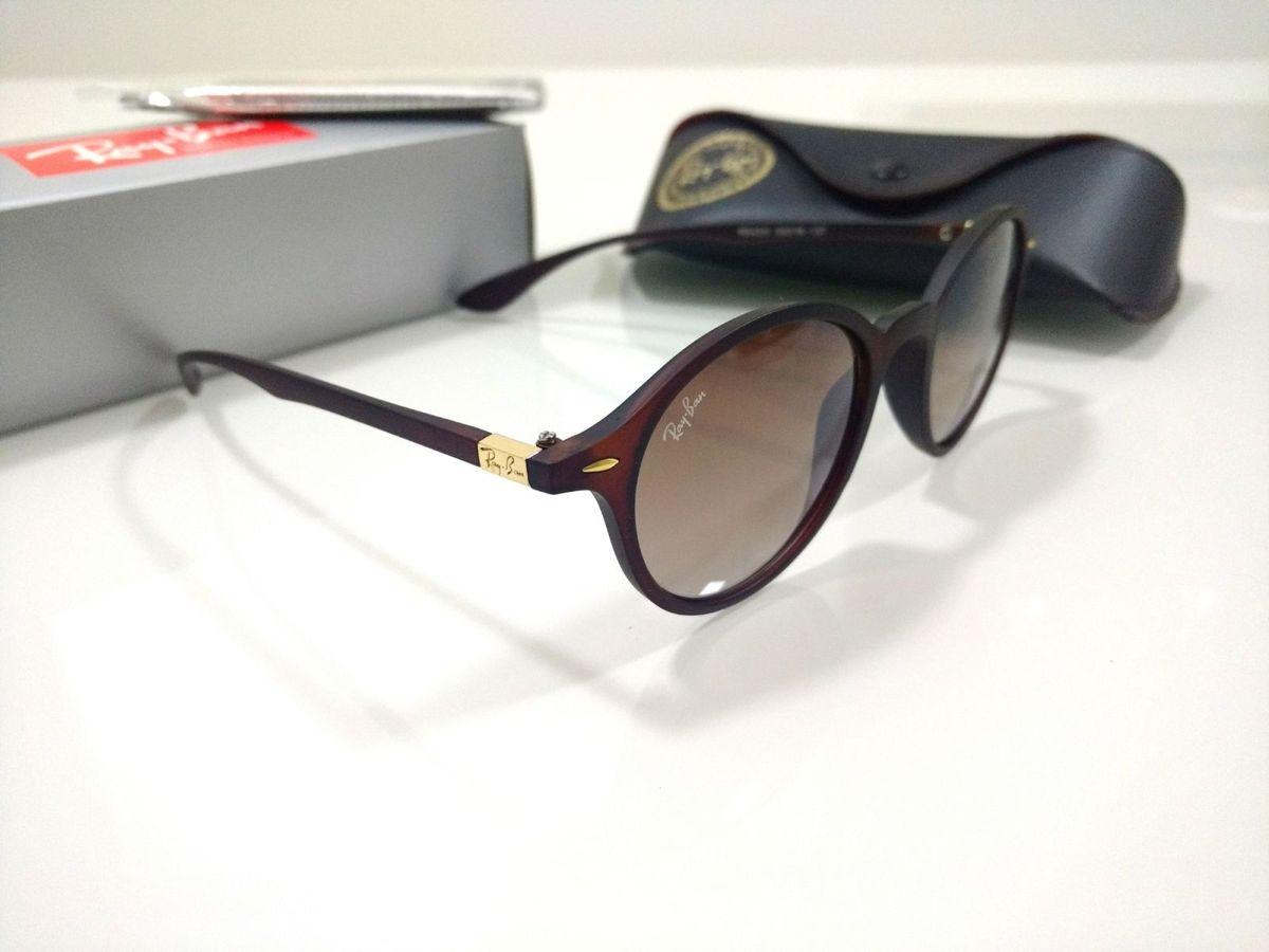 6dc90e1112731 Óculos de Sol Ray Ban Round Marrom Feminino e Masculino Redondo   Óculos  Feminino Rb Nunca Usado 29965002   enjoei