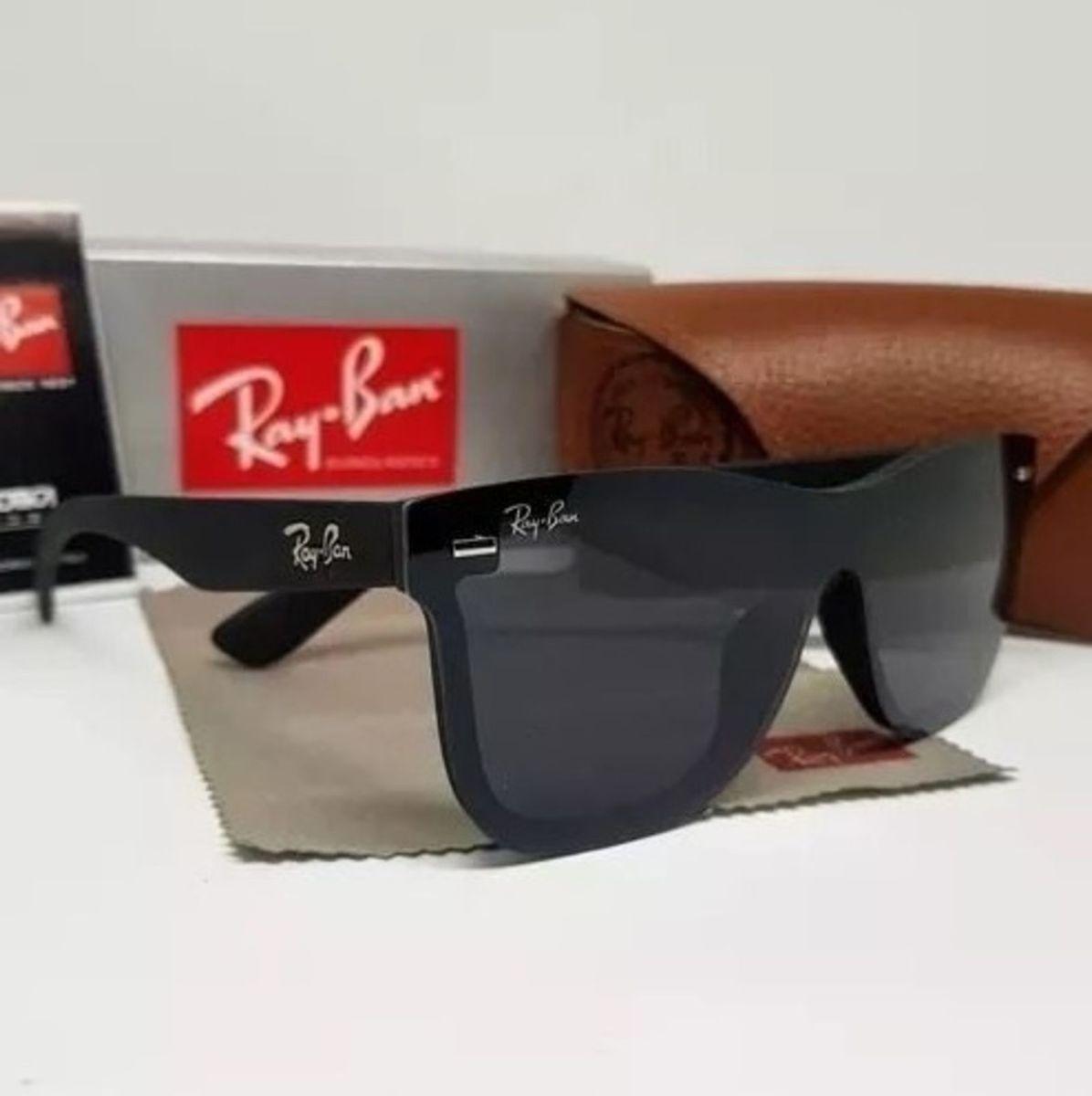 23a41acb7 óculos de sol ray ban wayfarer blaze preto fosco unissex importado - óculos  ray-ban