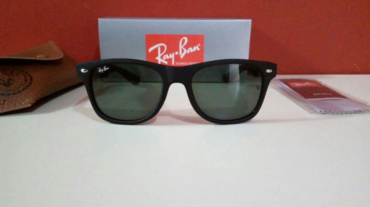 02760fa2e óculos de sol ray ban wayfarer preto fosco novo na caixa com acessórios - óculos  ray