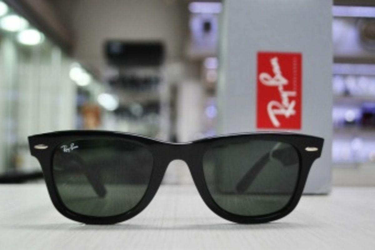 d46543444 óculos de sol ray ban wayfarer w1 preto fosco importado - óculos ray-ban