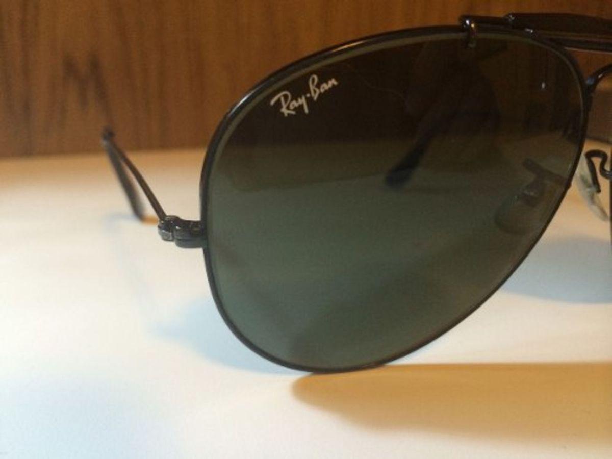 f2ee05c0ef920 Óculos de Sol Rayban Caçador Aviador Preto! B l 62mm   Óculos Masculino Ray  Ban Usado 1648626   enjoei