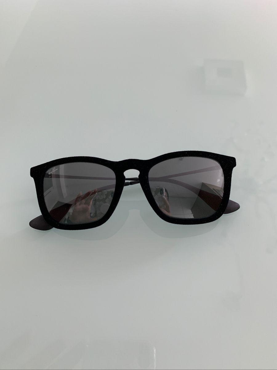 b5d1e1ab0cd44 Oculos de Sol Rayban Chris Veludo   Óculos Feminino Ray Ban Nunca ...