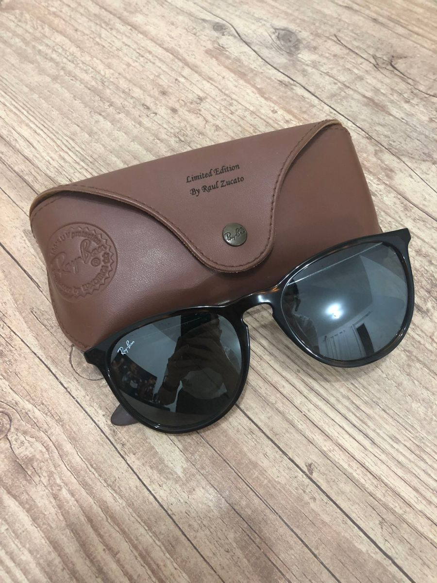 c11da0b85138d óculos de sol rayban erika marrom levemente espelhado - óculos ray-ban