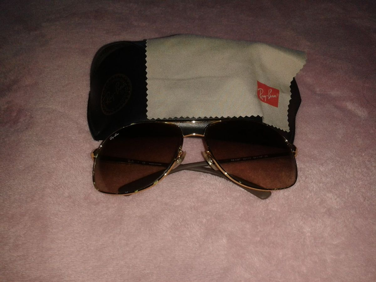 Óculos de Sol Rayban Modelo 3387 001 13   Óculos Feminino Ray Ban Usado  13024709   enjoei 1bebae3d59