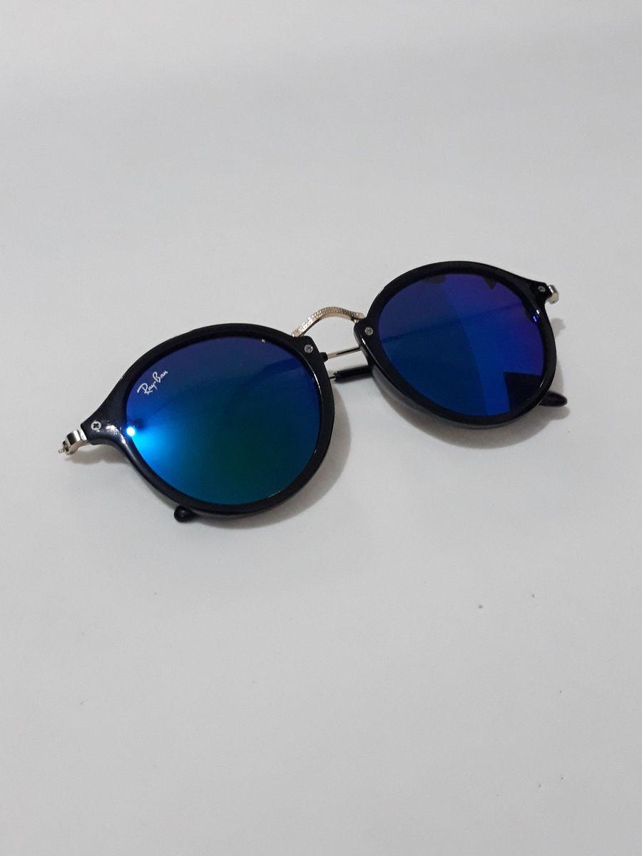Óculos de Sol Rayban Redondo Espelhado   Óculos Feminino Ray Ban ... af64a26ec1