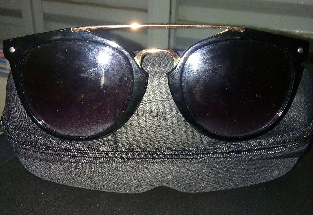Oculos de Sol, Redondo, Lente Preta   Óculos Feminino Triton Nunca ... 437de69a87