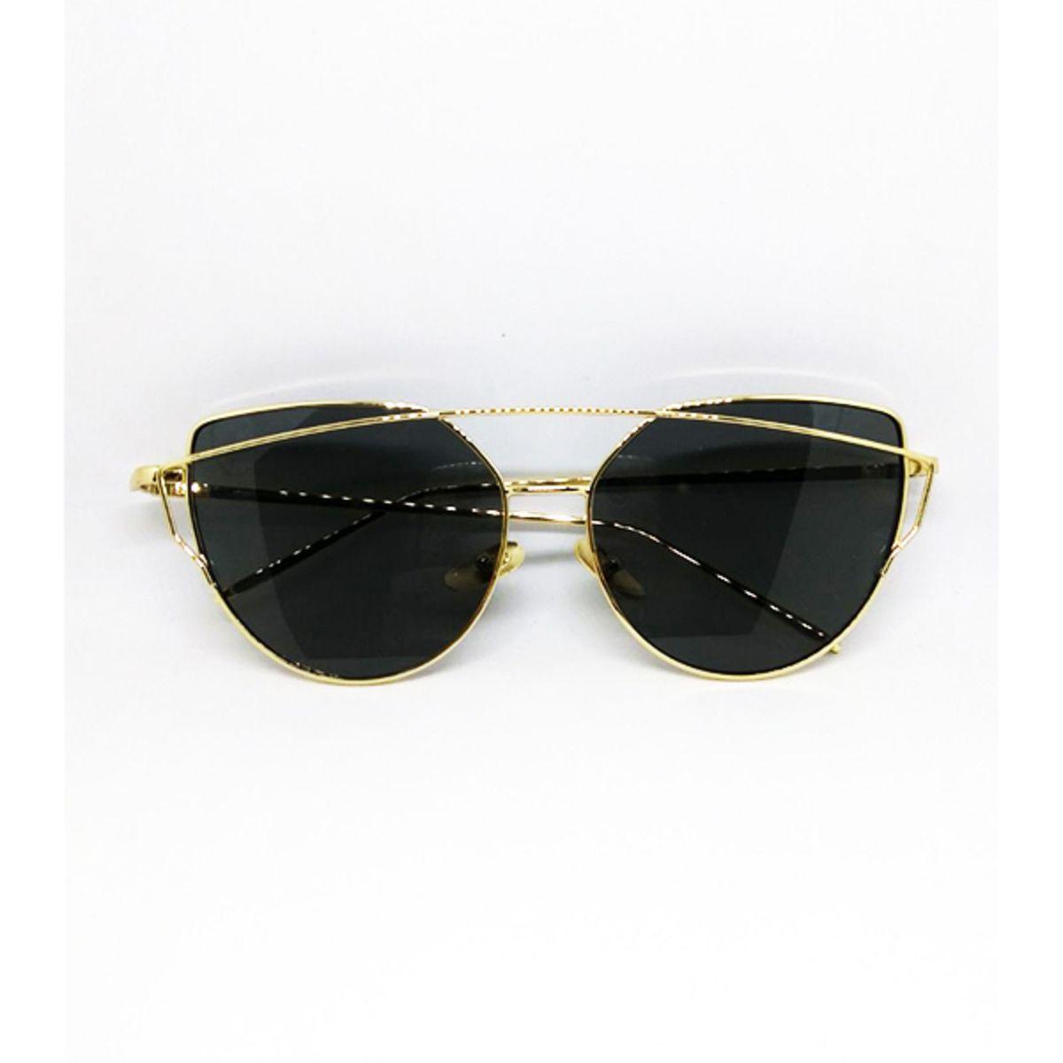 Óculos de Sol Starlight Gatinho com Lente Preta   Óculos Feminino ... a9b7d30b97