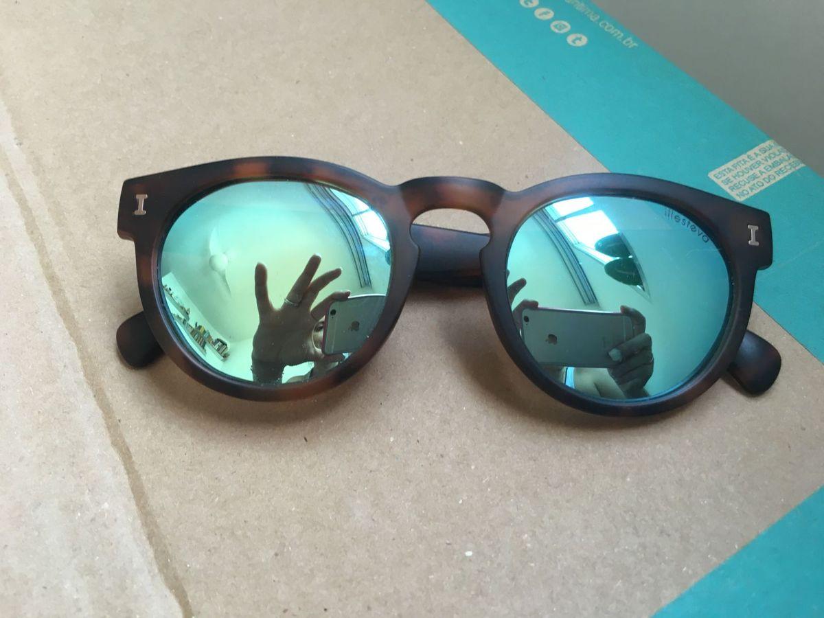 8e23605d71023 Óculos de Sol Tartaruga Espelhado Verde Agua   Óculos Feminino ...