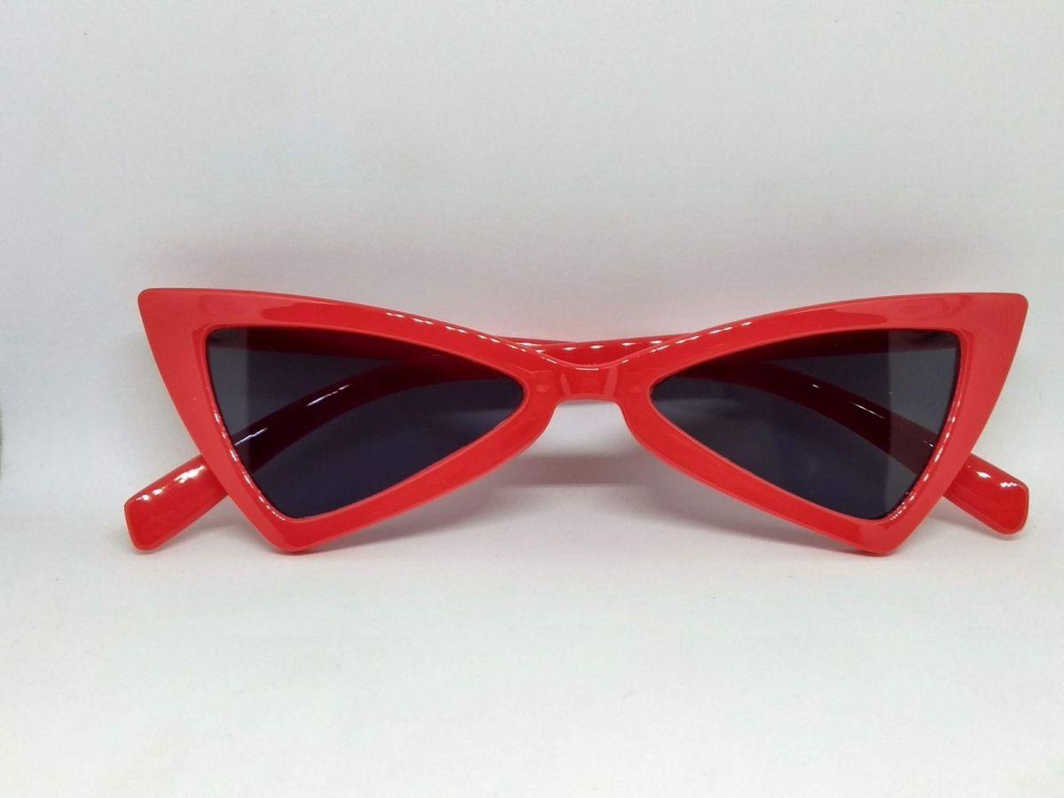Óculos de Sol Triangular Vermelho com Lente Preta   Óculos Feminino ... c34b7b79ca