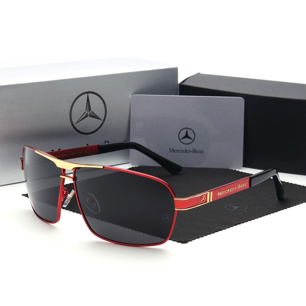 Óculos de Sol Uv 400 Polarizada Mercedes Benz Vermelho   Óculos Masculino Mercedes  Benz Nunca Usado 29511367   enjoei a247776095