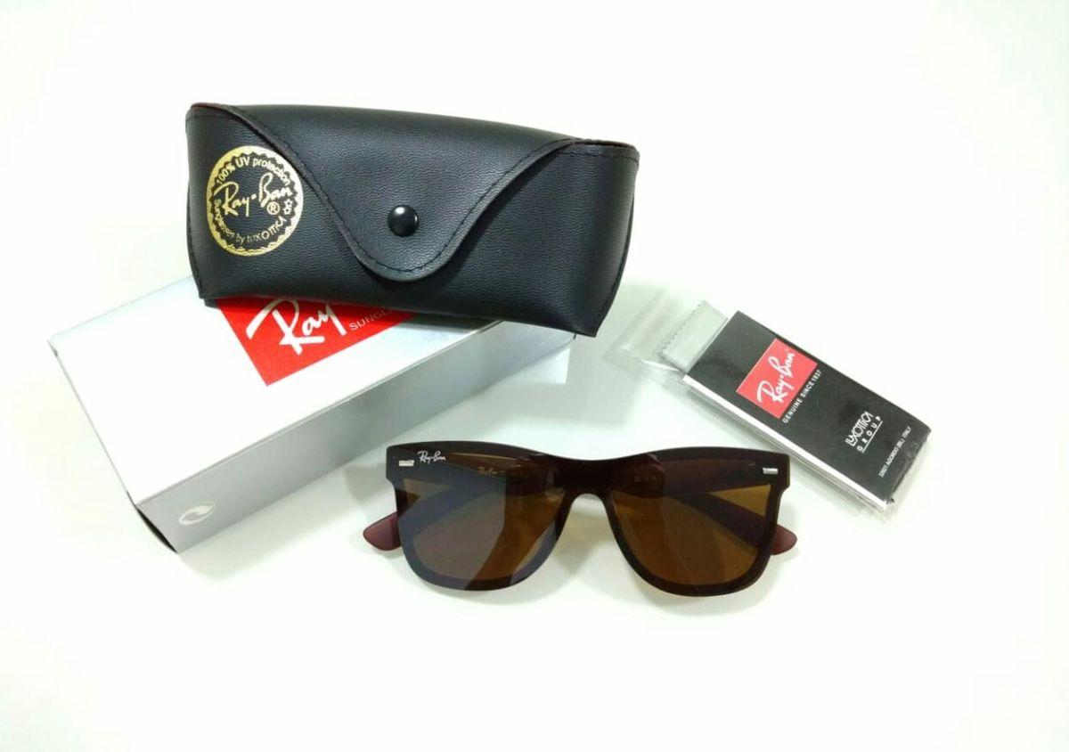 e7db479a7 óculos de sol wayfarer marrom blaze masculino e feminino - óculos ray-ban