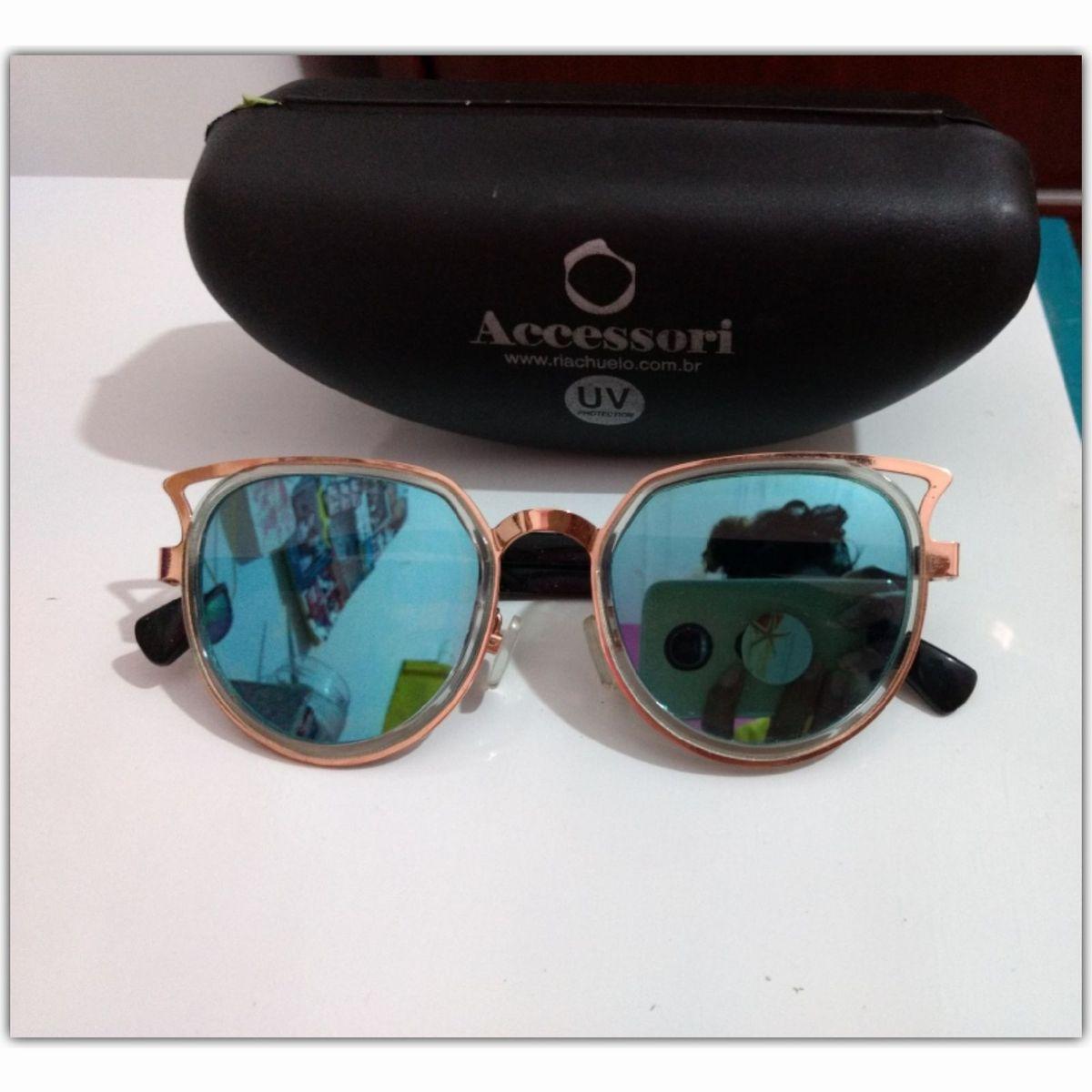016eeecbe04a9 Óculos Espelhado Azul