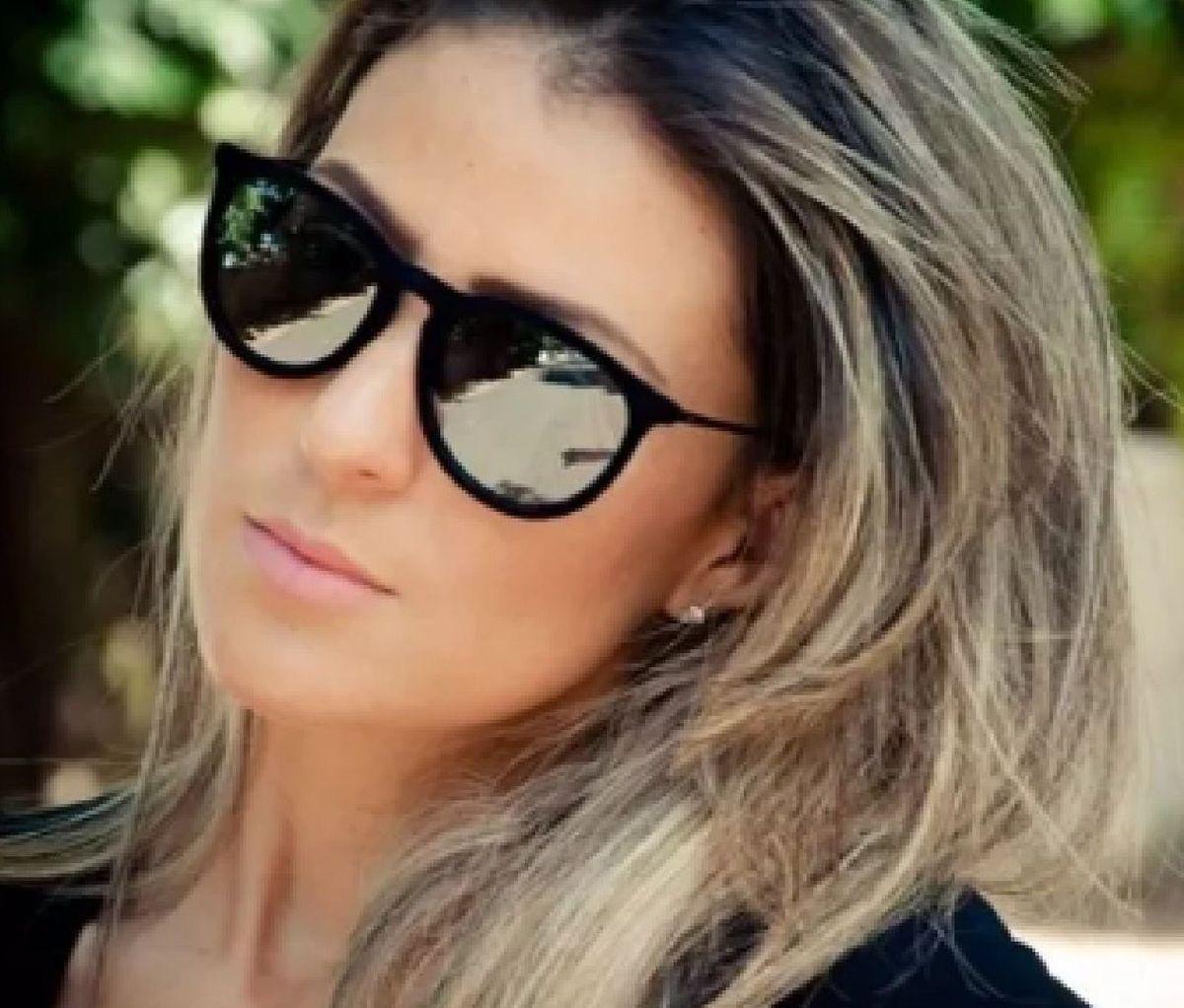 17a0ccd37 Óculos Espelhado com Veludo Preto | Óculos Feminino Importado Nunca ...