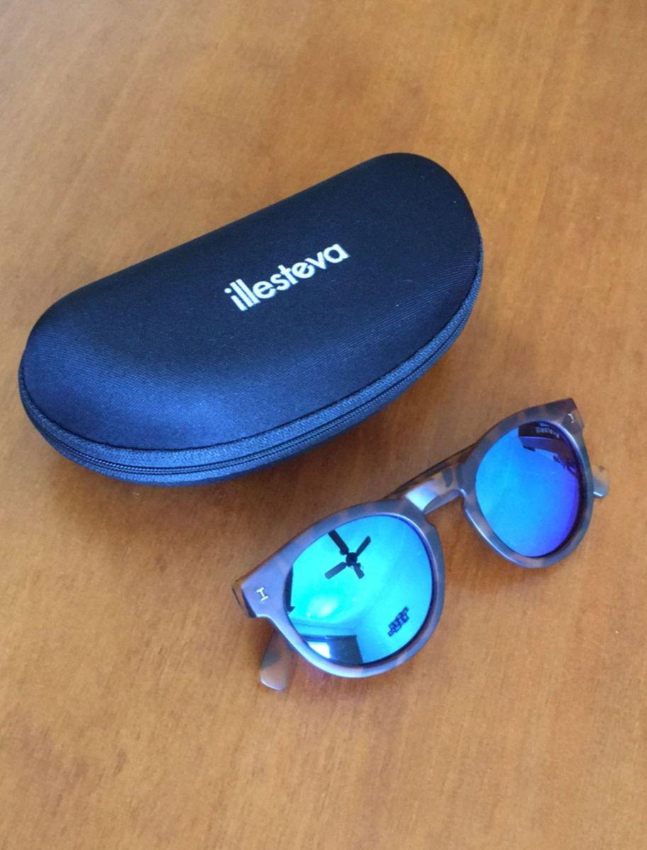 Óculos Espelhado Lente Azul Tortoise   Óculos Feminino óculos De Sol ... b37d3e1341