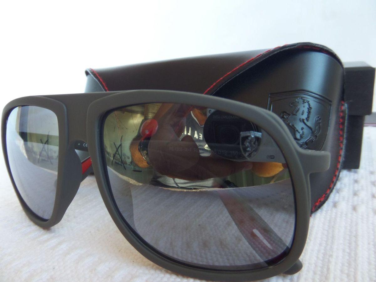 f59c4af45 óculos ray-ban rb4308m cinza fosco scuderia ferrari collection - importado  e novo - óculos