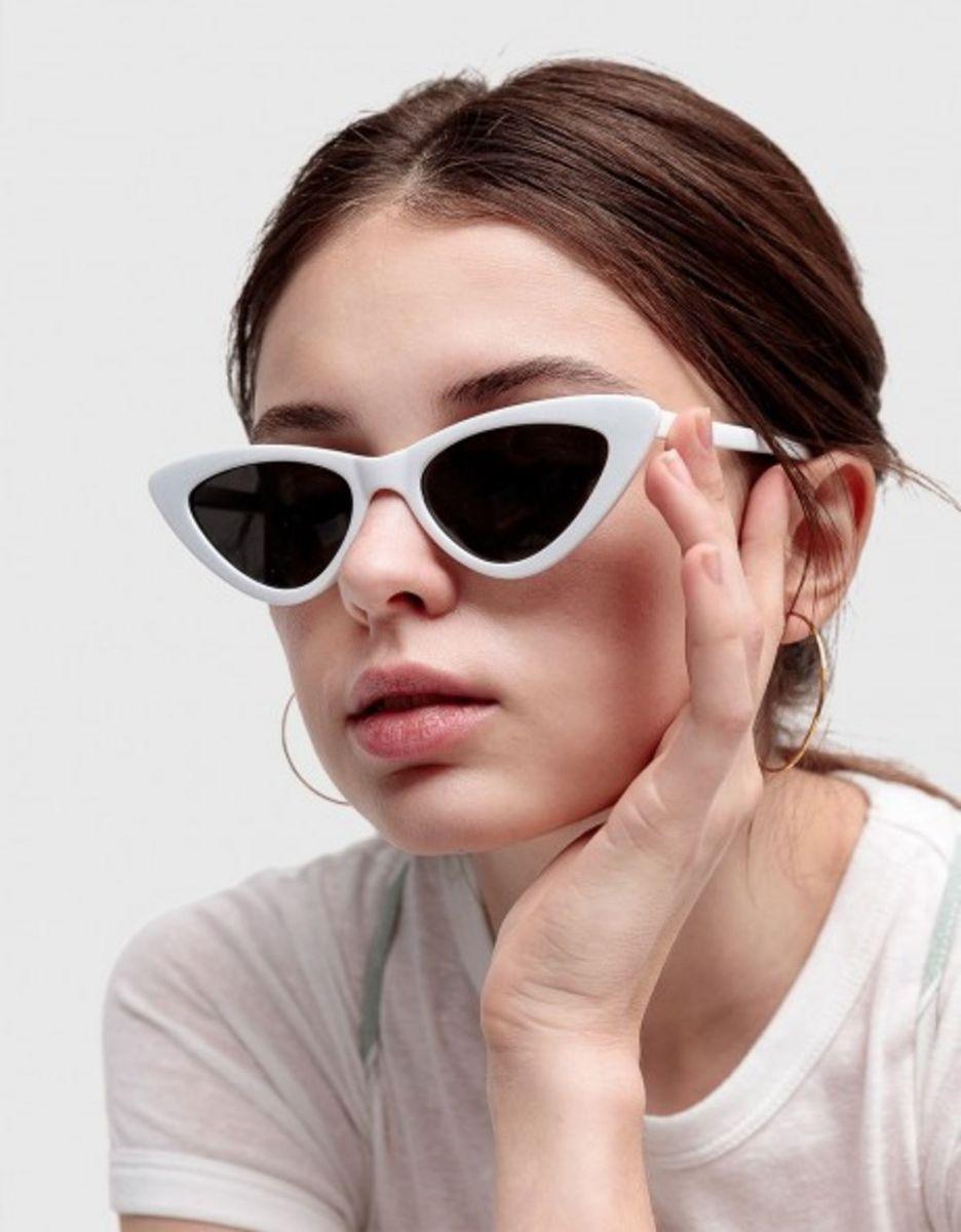6cd2f32520930 óculos olho de gato   gatinho cat eye vintage retrô clássico branco - óculos  sem marca