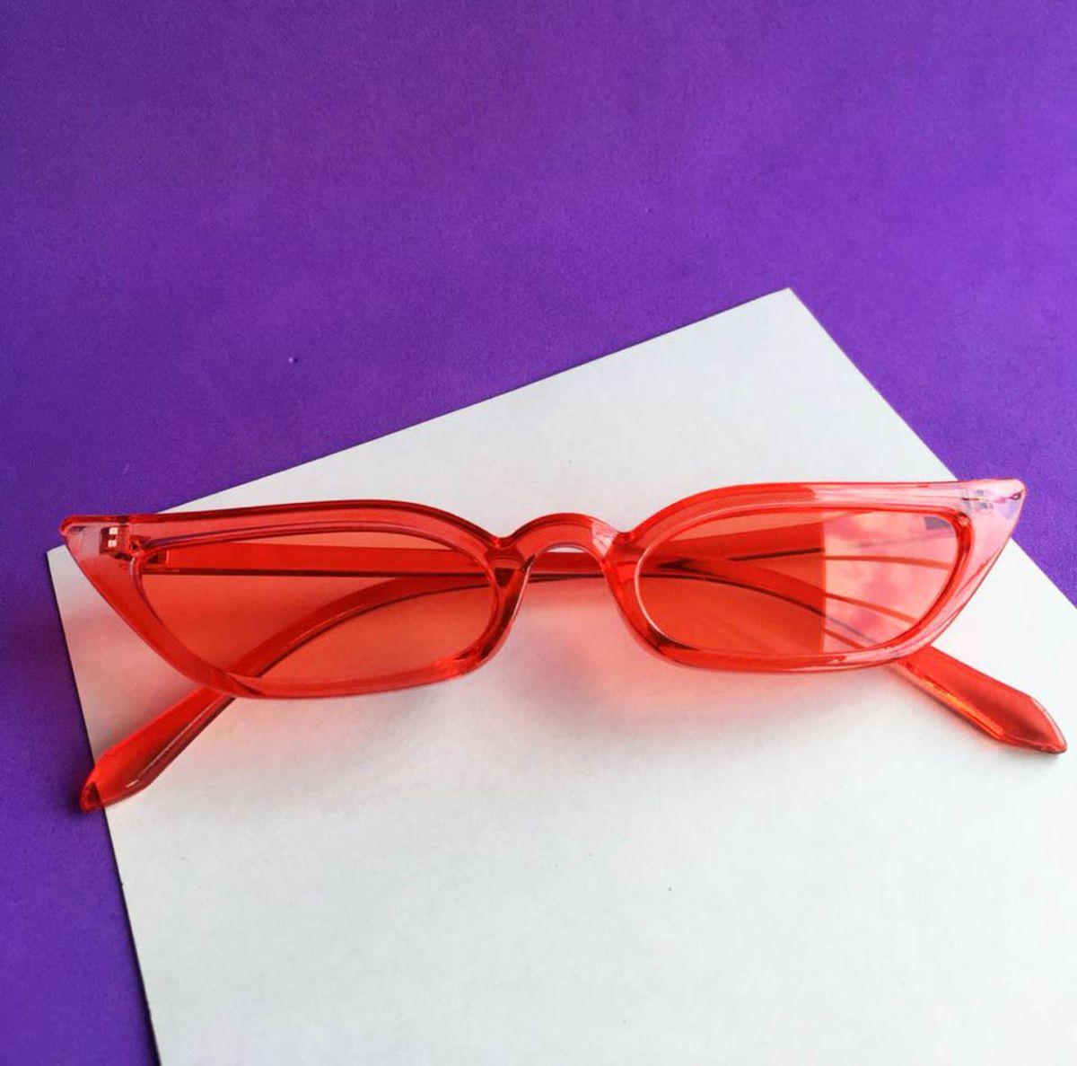 Óculos Gatinho Hype Square Vermelho   Óculos Feminino Nunca Usado ... 374f3c0a42
