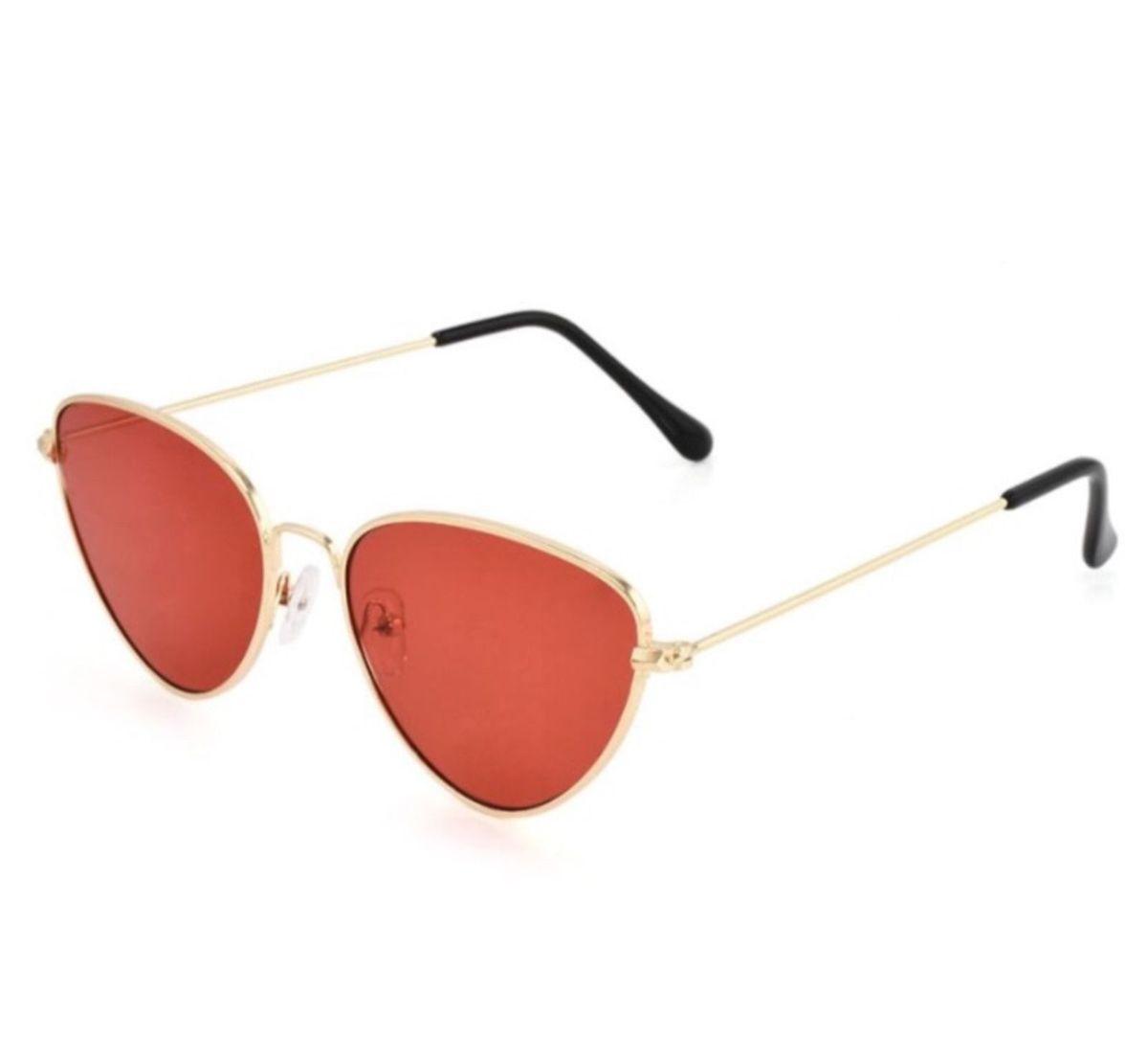 óculos gatinho lente vermelha - óculos sem marca.  Czm6ly9wag90b3muzw5qb2vplmnvbs5ici9wcm9kdwn0cy8xnti2mdmvytg1mgrmyjg5otjmztg1ymzmzdc1owrhnzc1n2nmzdquanbn  ... db74309f39