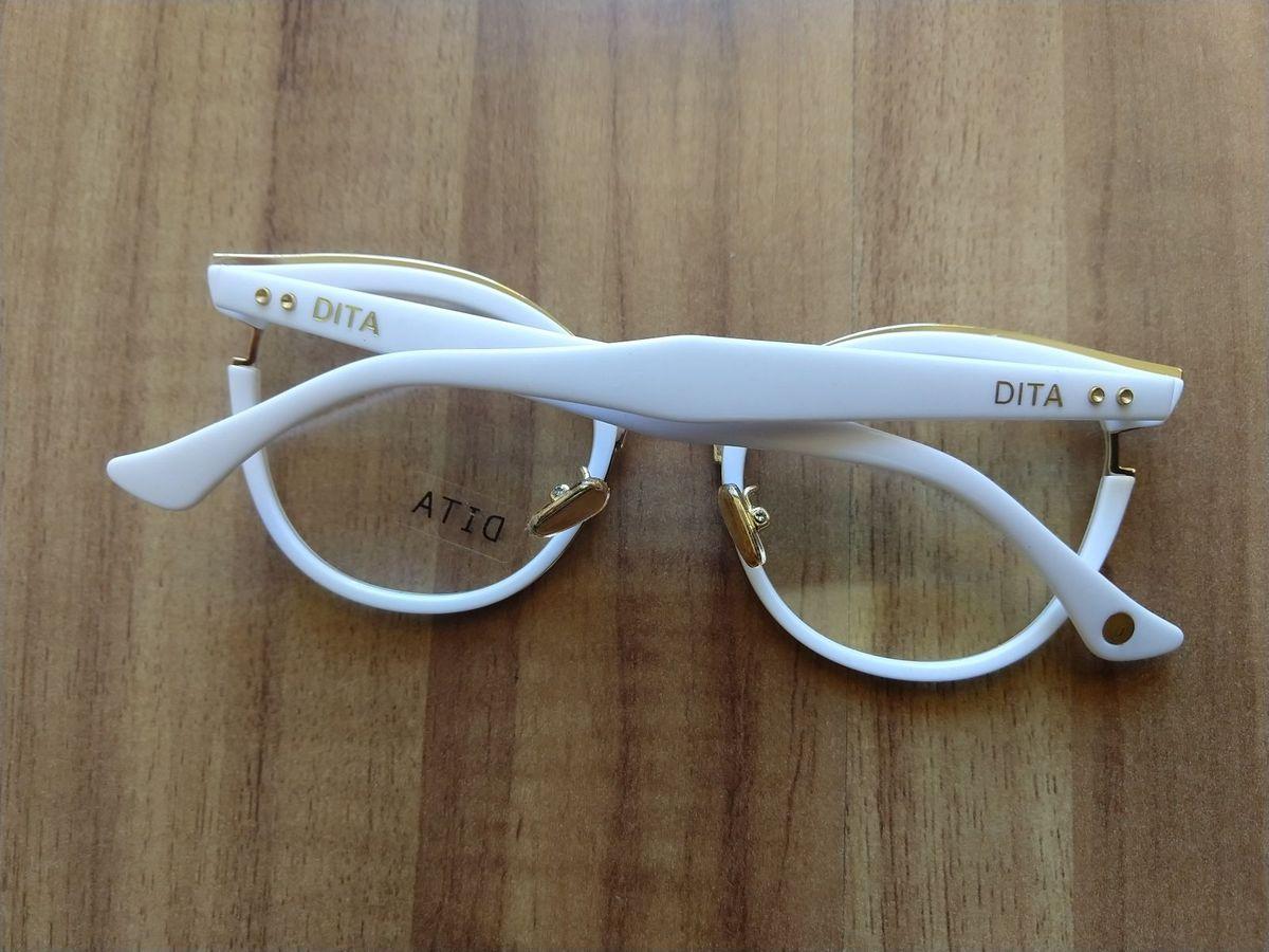 0a6b682b8080e Óculos Grau Dita Branco