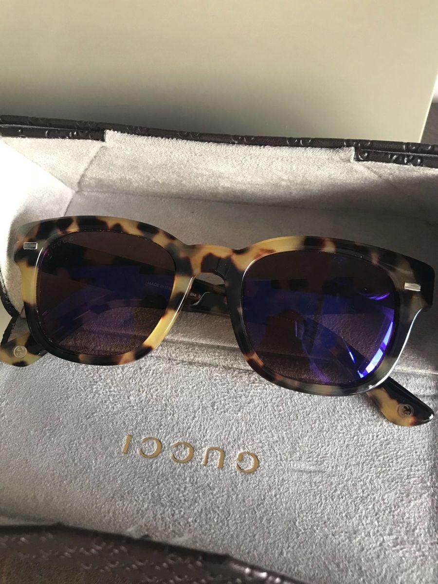 Óculos Gucci Animal Print Lente Espelhada   Óculos Feminino Gucci Usado  25673596   enjoei 748760fcc0