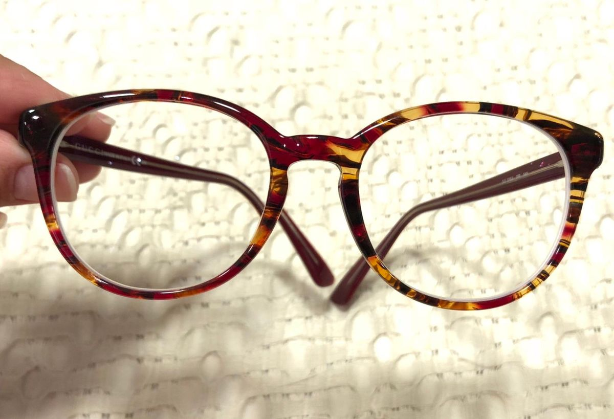 74056275d05bd Óculos Gucci Vermelho Tartaruga Gg3753 17r 140   Óculos Feminino Gucci  Usado 29272353   enjoei