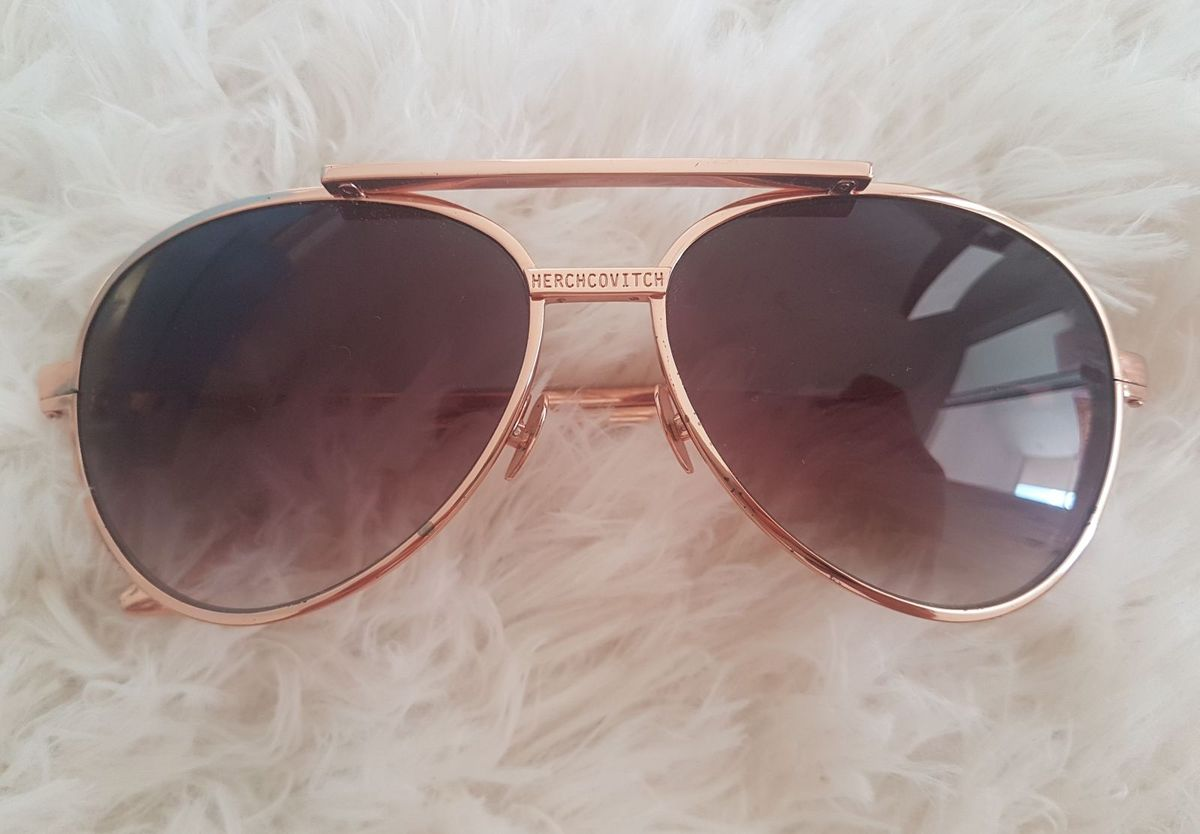 0a989e2f6b9 óculos herchcovitch rosê gold - óculos chilli-beans