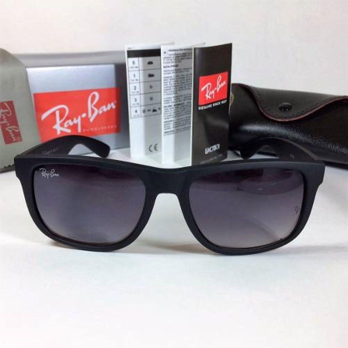 333e32d6f óculos justin masculino ray ban rb 4165 degrade espelhado preto - óculos ray -ban