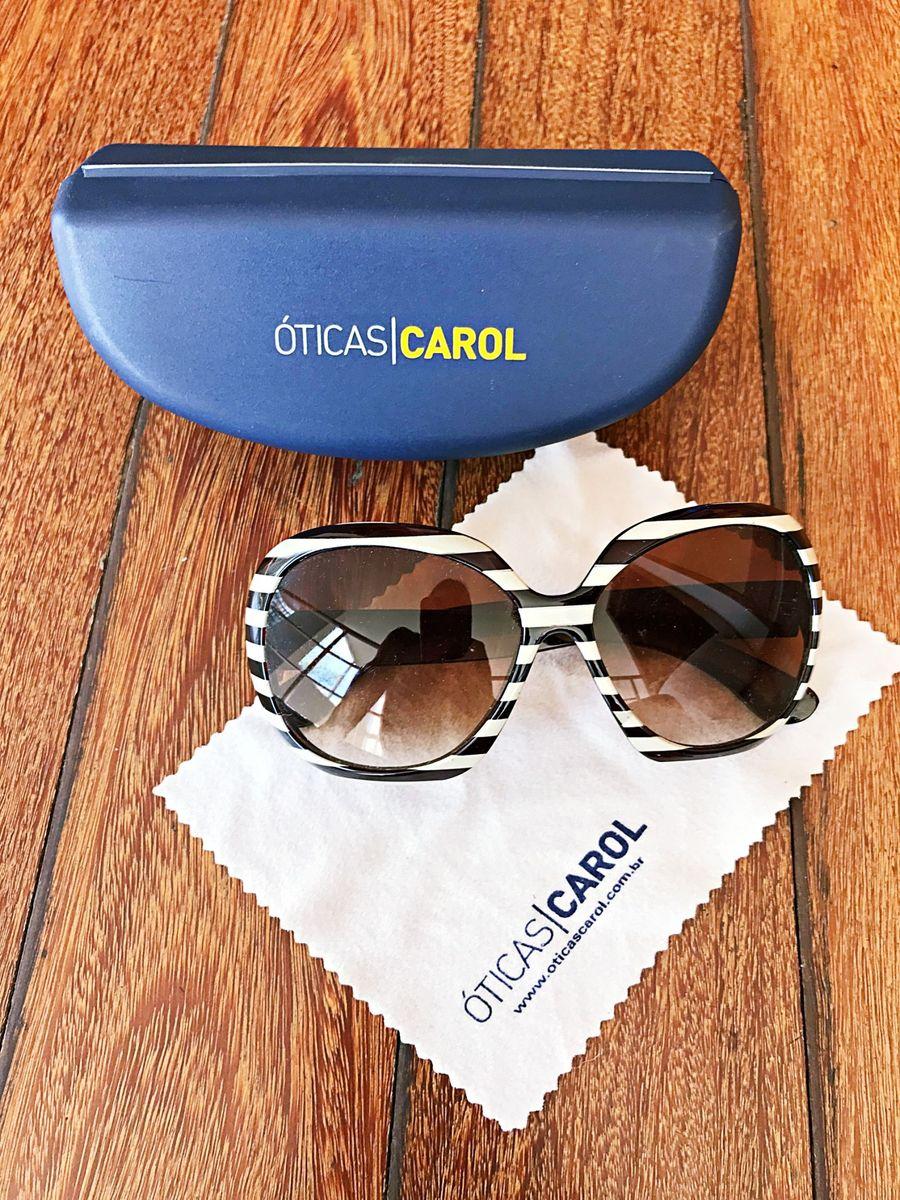 óculos listrado carol - óculos óticas carol