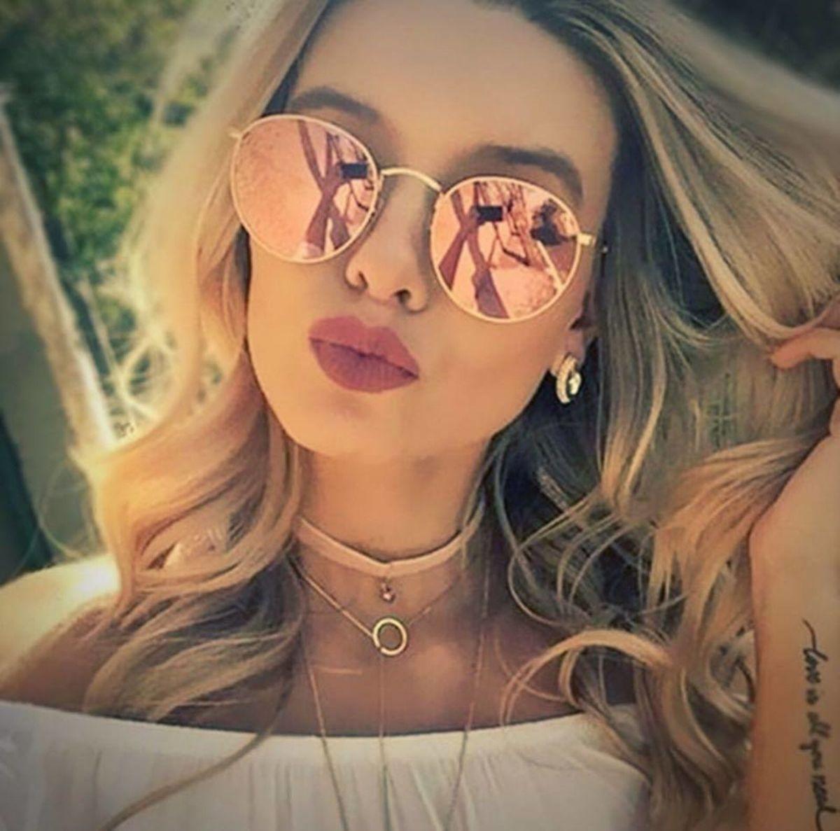 Óculos Luxo Feminino Espelhado   Óculos Feminino Nunca Usado ... 7e75067395