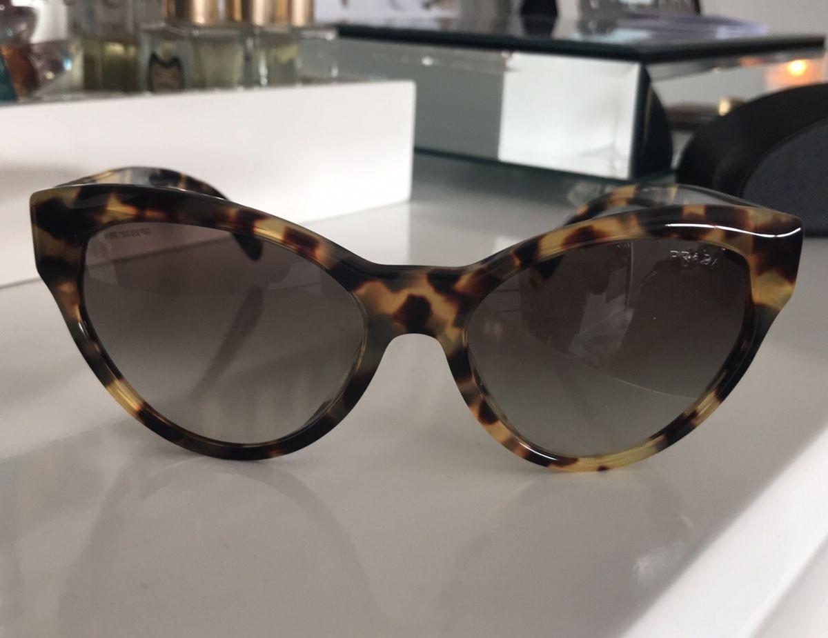 Óculos Modelo Gatinho Tartaruga Original da Prada   Óculos Feminino Prada  Usado 10   enjoei