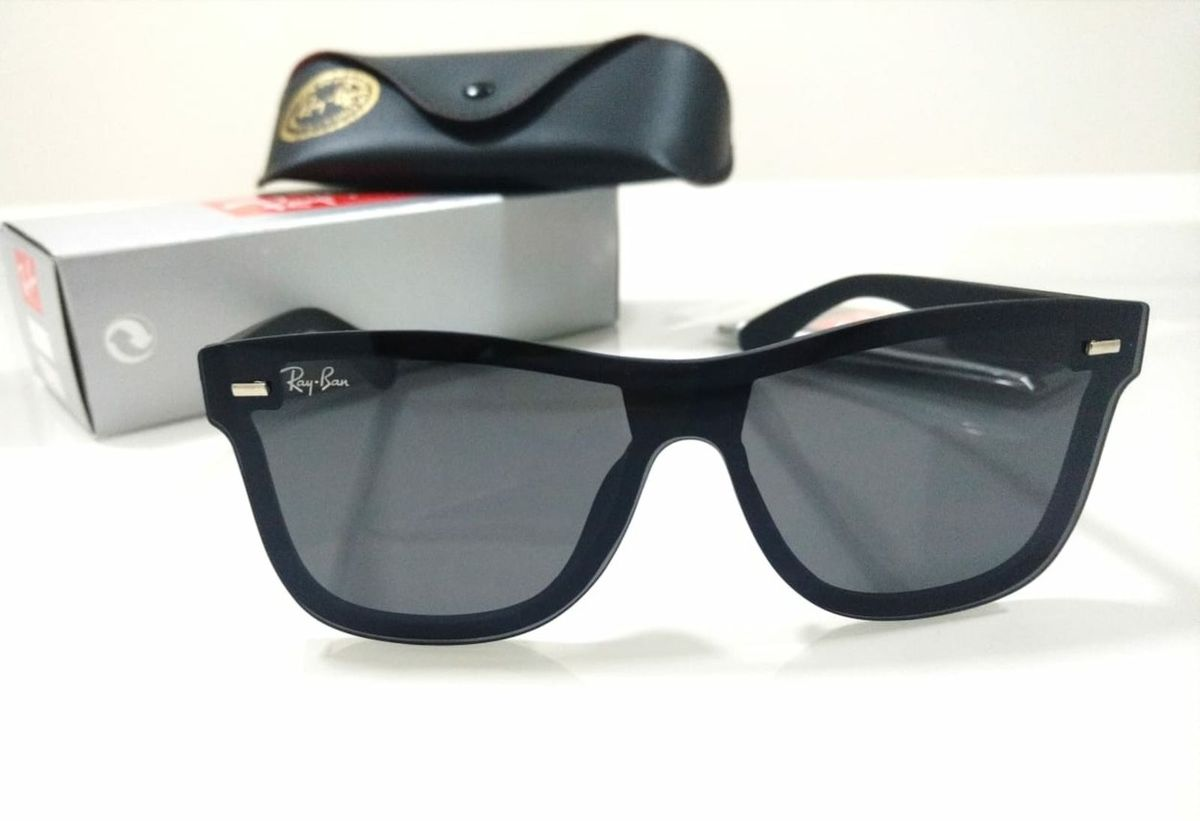 814608672 óculos ray ban wayfarer mask blaze preto fosco unissex - óculos rb