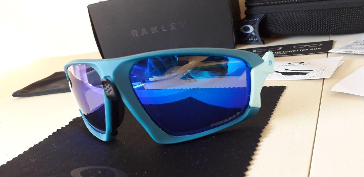 óculos oakley de ciclismo field jacket azul/azul celeste prizm polarizado - importado - óculos oakley