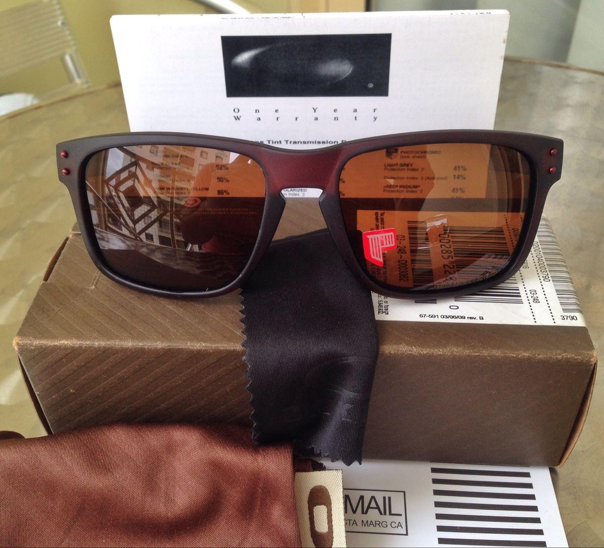 613f6e32ca67d Óculos Oakley Holbrook Polarizado Todo Marrom   Óculos Masculino ...