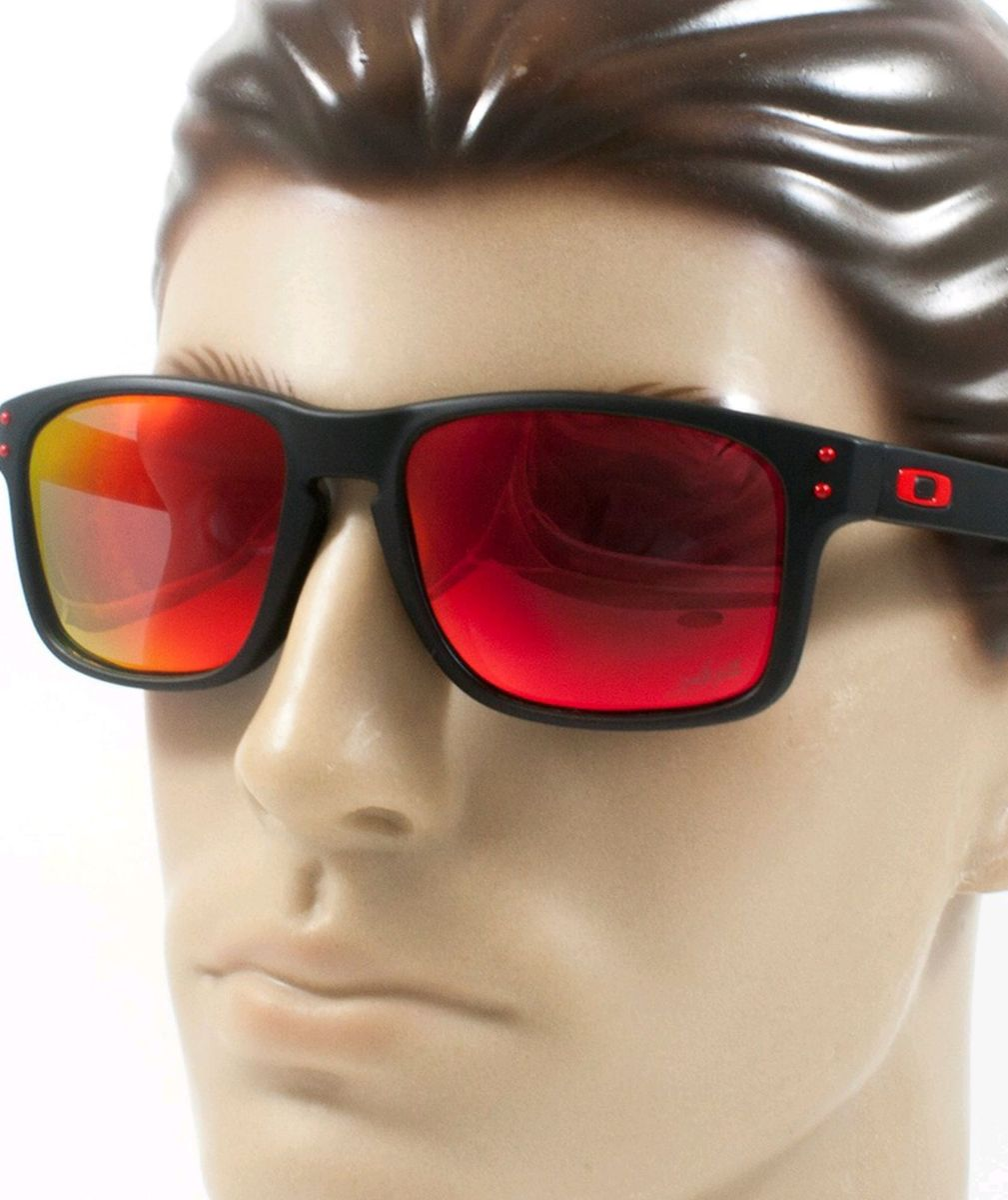 0ca6e8e44e647 óculos oakley holbrook vermelho lente polarizada - óculos oakley
