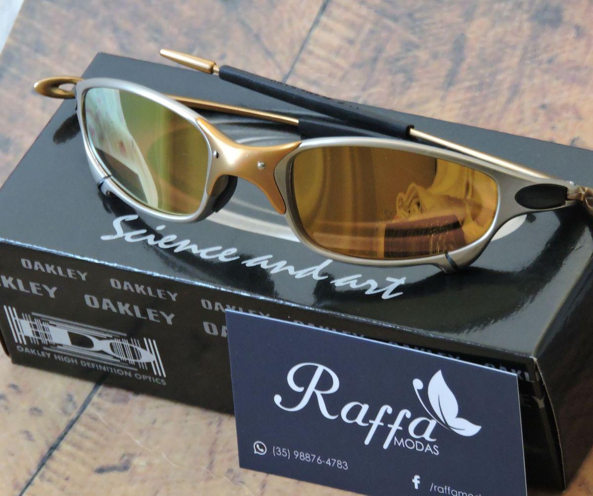 Oculos Oakley Juliet 24k X Metal Polarizado   Óculos Masculino ... f45ac579c1