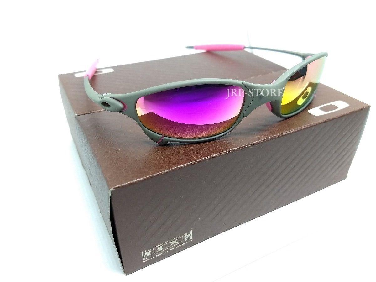 0138a98710aed Óculos Oakley Juliet Metal Lente Rosa Pink com Borrachas Rosas ...