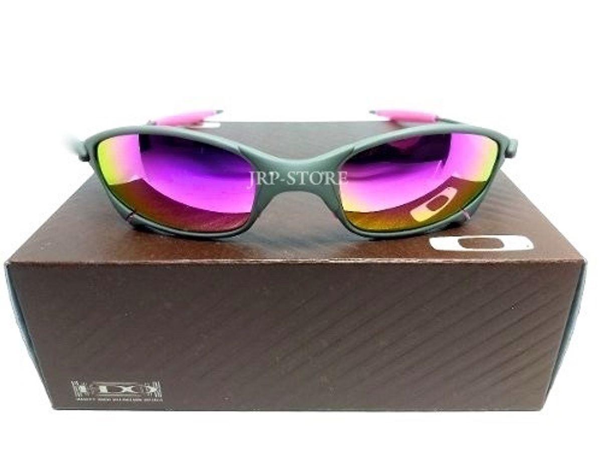 2ae94e45f óculos oakley juliet metal lente rosa pink com borrachas rosas - óculos  oakley