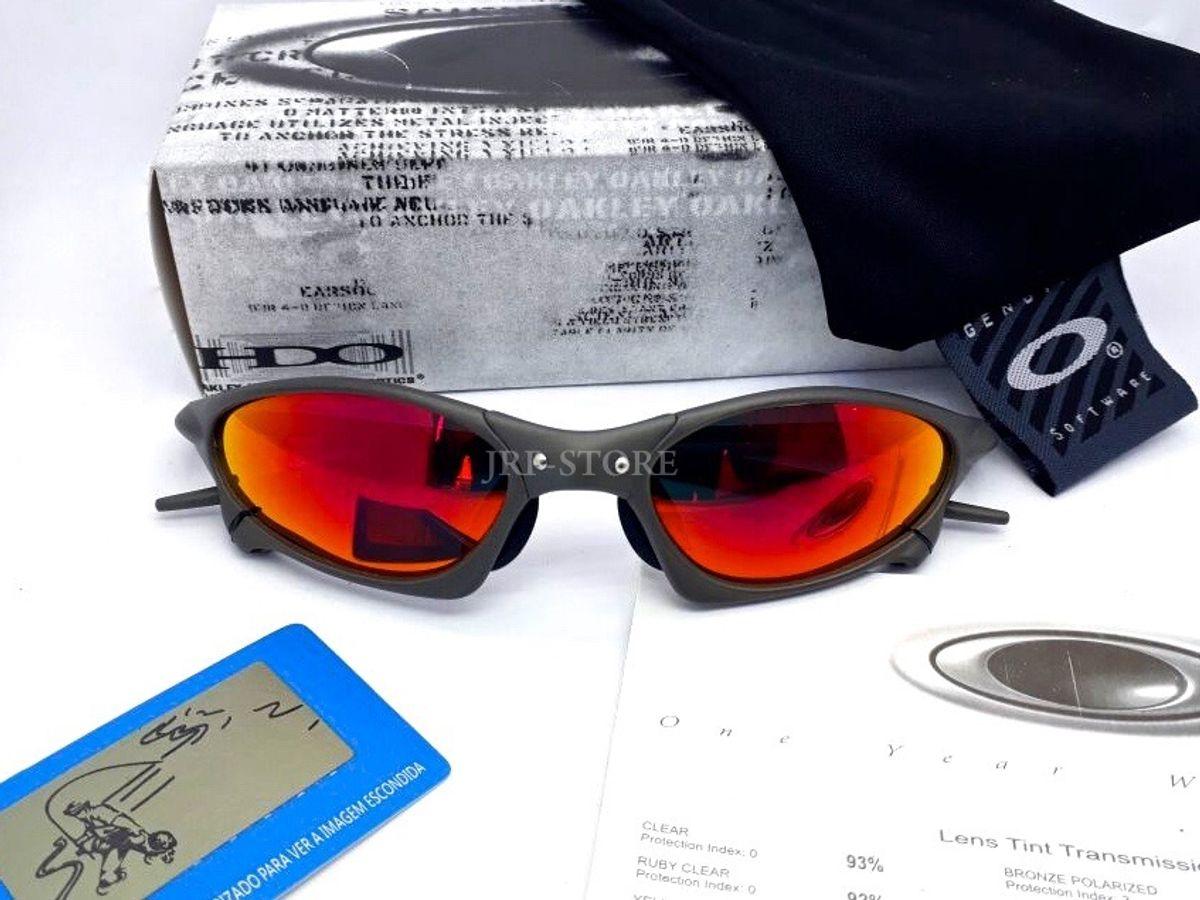 7f33fee4233a2 óculos oakley juliet penny xmetal lente ruby + brinde lente extra - óculos  oakley
