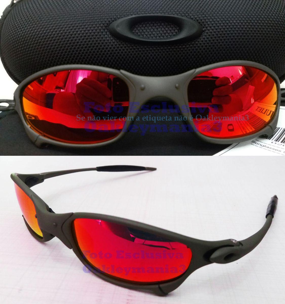b7f84b364 oculos oakley juliet x metal lente red fire polariada + case porta oculos  u.s.a - óculos