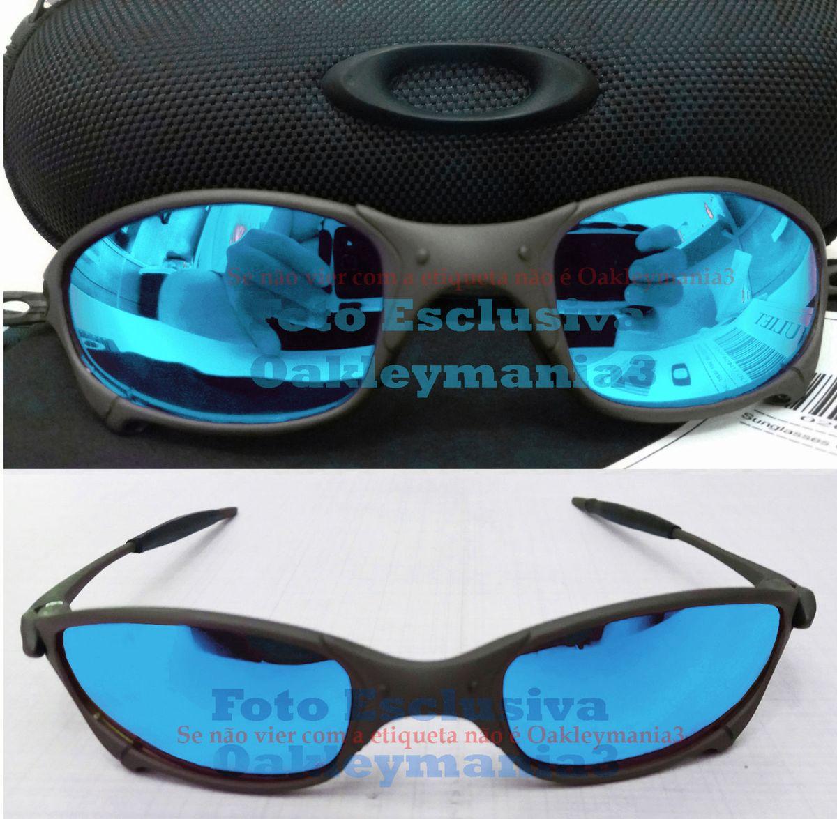 1711ee160 oculos oakley juliet xmetal lente azul clara ice thug polarizada + case  rigido porta oculos u.s.a