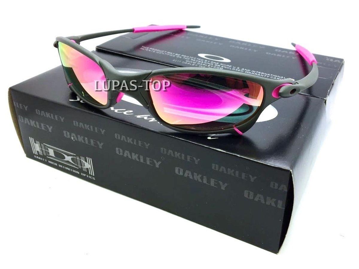 2432aff5f4f3a Óculos Oakley Juliet Xmetal Lente Rosa Pink com Borrachas Rosas ...
