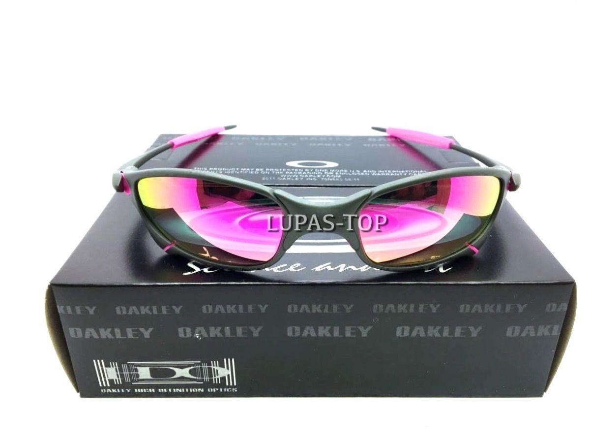 be57443b094cf óculos oakley juliet xmetal lente rosa pink com borrachas rosas - óculos  oakley