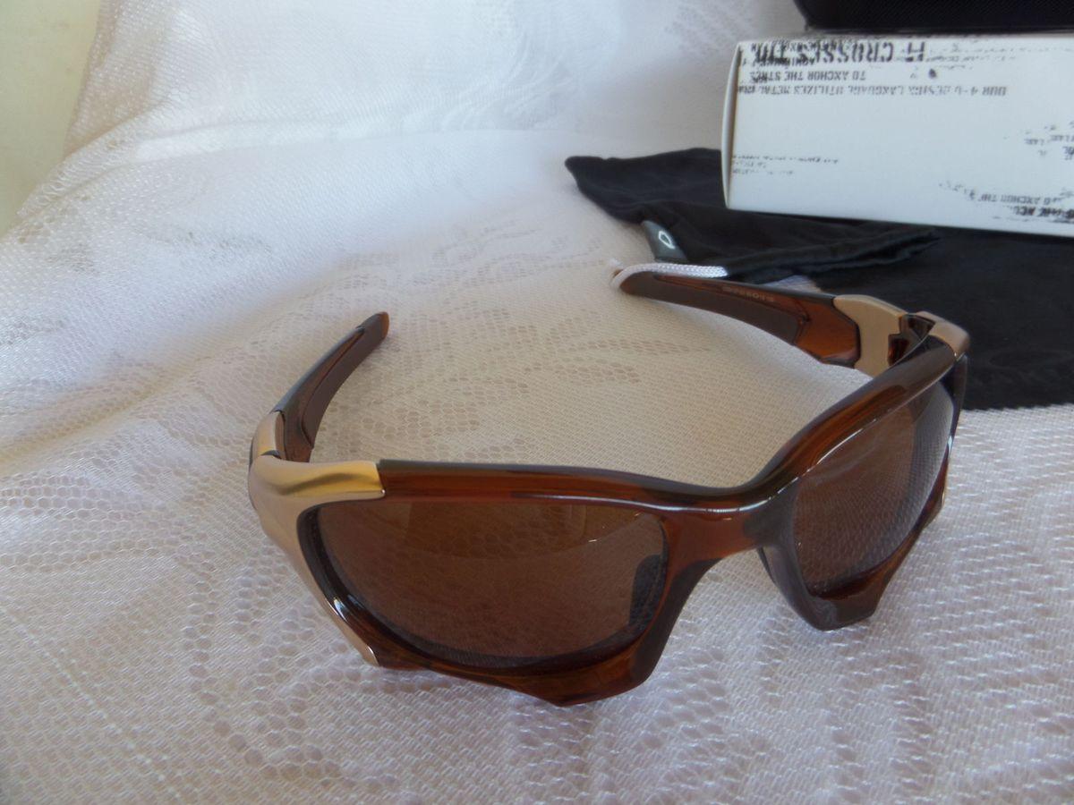 5a89bd5dd558e óculos oakley pit boss ii marrom polarizado - original e novo - óculos  oakley