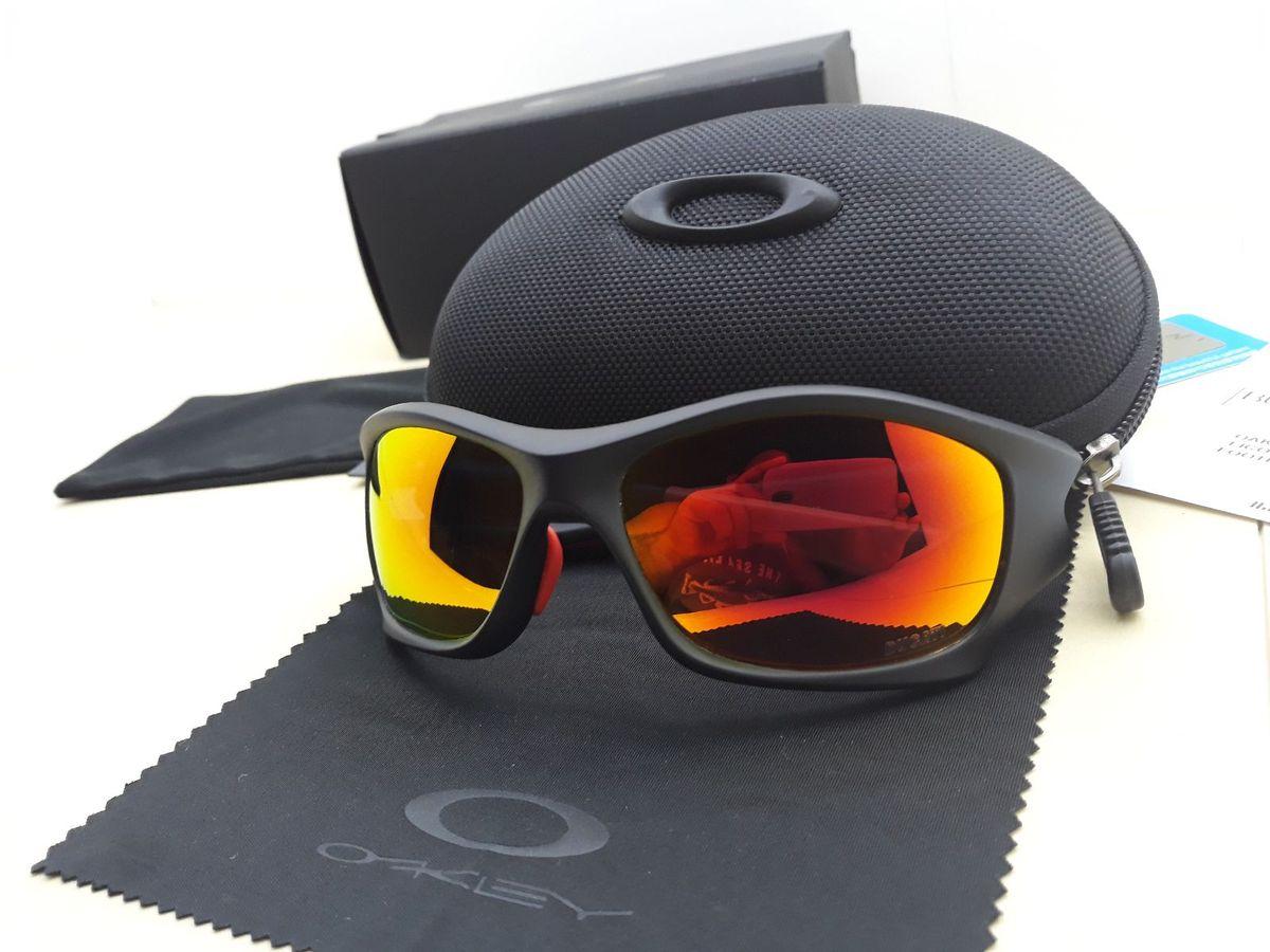 óculos oakley pit bull ducati preto/vermelho polarizado - importado e novo - óculos oakley