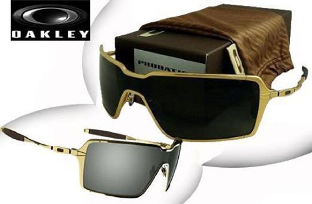 1a88c985a oculos oakley probation dourado em oferta novo na caixa - óculos oakley
