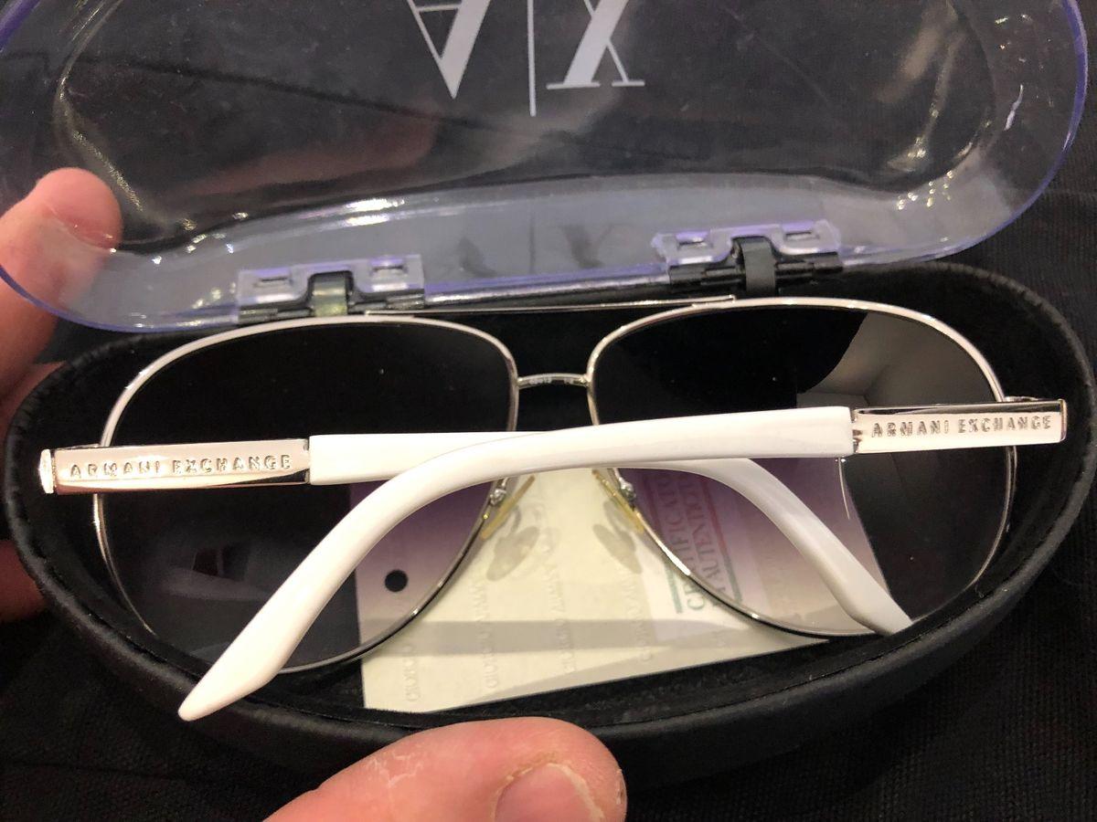 f7e47de58 ... óculos original armani exchange branco e prata - óculos armani exchange  ...