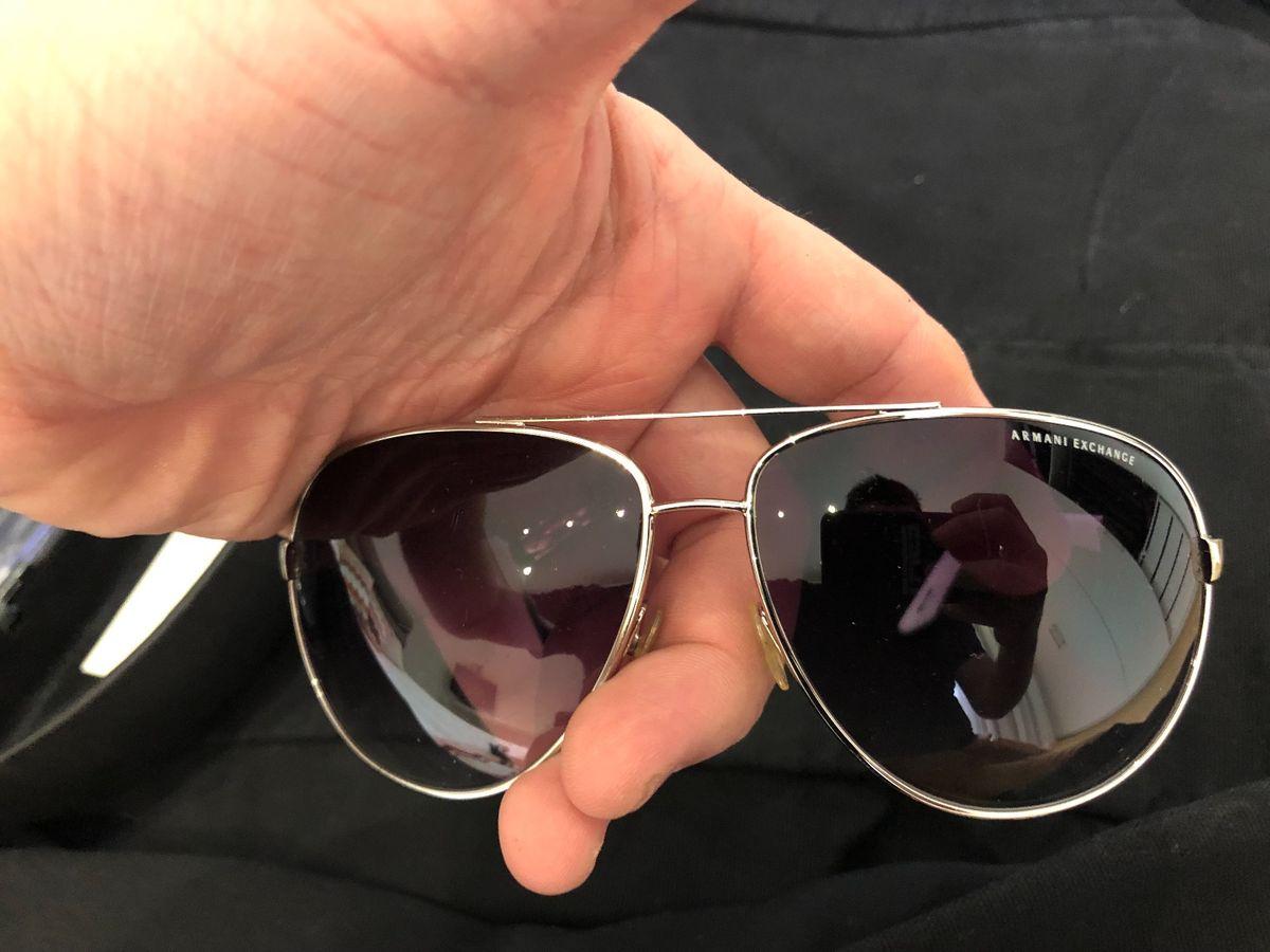 2b5b586f5 ... óculos original armani exchange branco e prata - óculos armani exchange