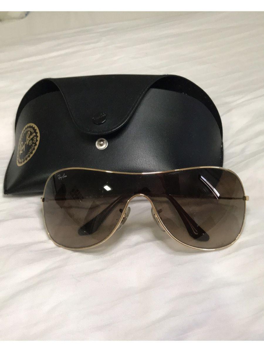 óculos original rayban lente marrom, armação dourada. - óculos ray-ban 845004667b