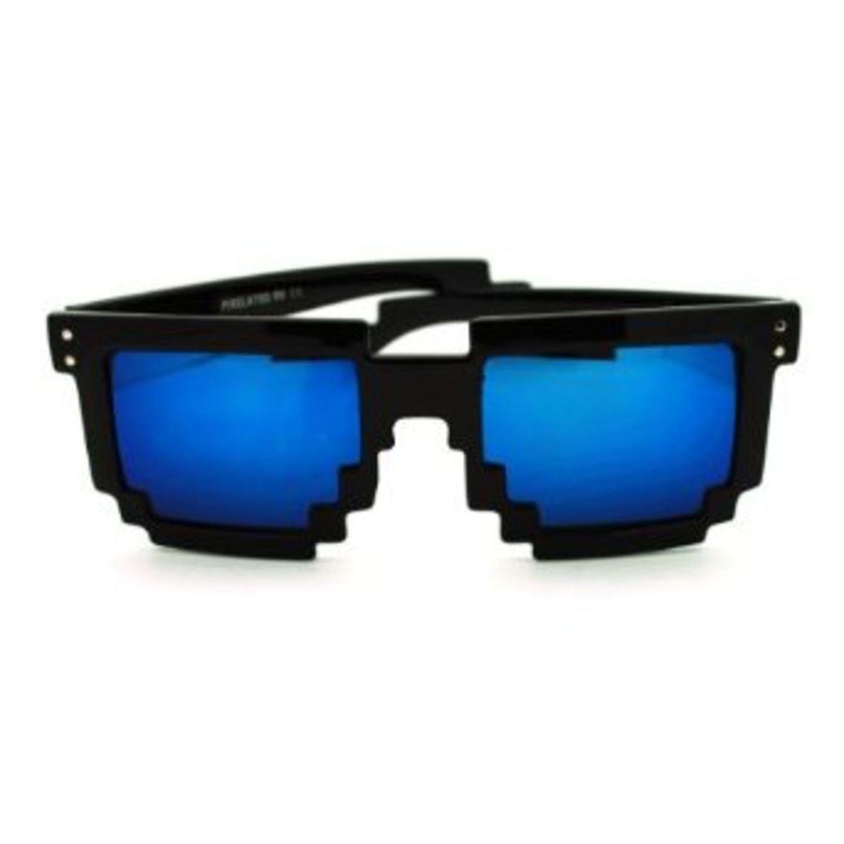 077013345433f Óculos Pixel com Lentes Espelhadas - Geek